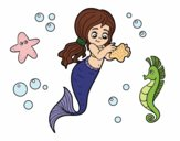 Coloring page Lovely mermaid painted byAnnanymas
