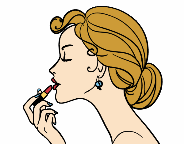 Coloring page Make up the lips painted byAnnanymas