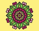 Coloring page Mandala arabic hearts painted byAnia