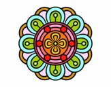 Coloring page Mandala creative flower painted bySant