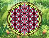Coloring page Mandala lifebloom painted bySant