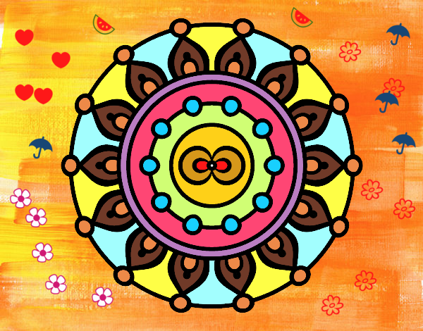Coloring page Mandala meditation painted bySant