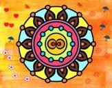 Coloring page Mandala meditation painted bySant