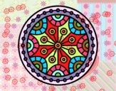 Coloring page Mandala mental balance painted bySant