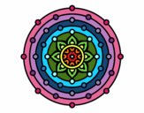 Coloring page Mandala solar system painted bySant