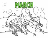 Coloring page March painted byAryanLove