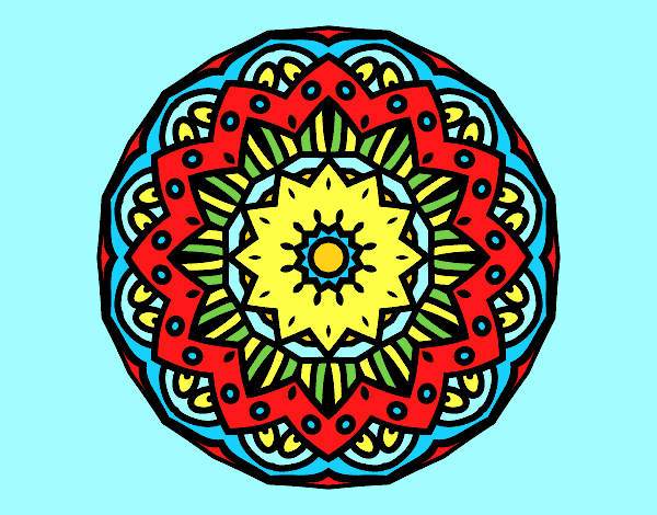 Coloring page Modernist mandala painted byAnia
