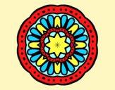 Coloring page Mosaic mandala painted byAnia