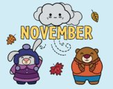 Coloring page November painted byAnnanymas