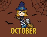 Coloring page October painted byAnnanymas
