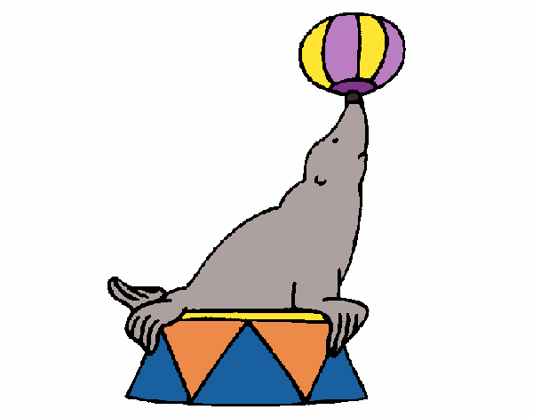 Coloring page Seal painted byAnnanymas