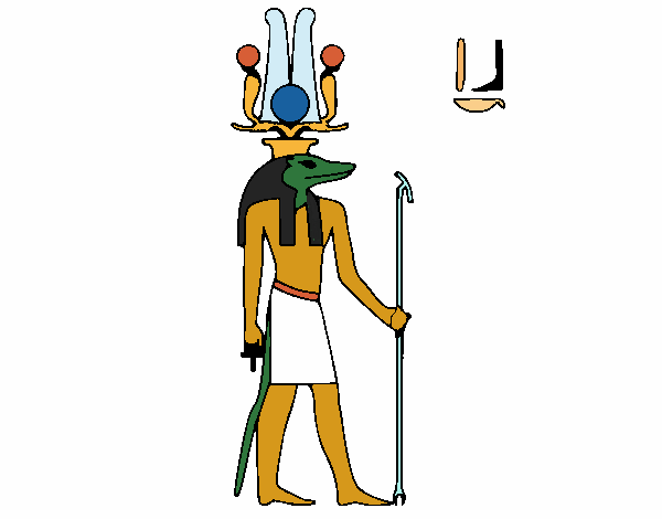 Coloring page Sobek painted byAnnanymas