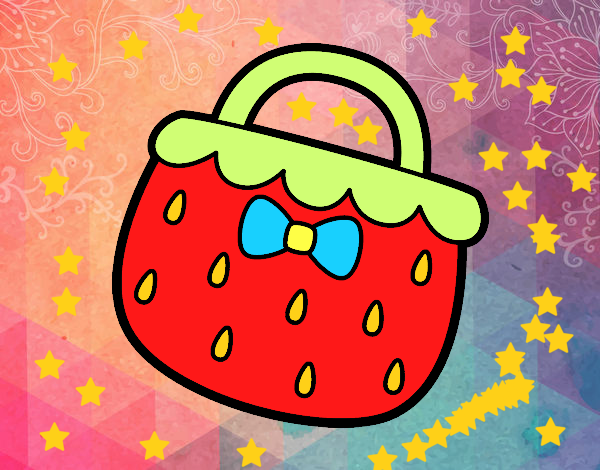 Coloring page Strawberry handbag painted bySant