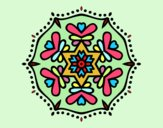 Coloring page Symmetric mandala painted byAnia