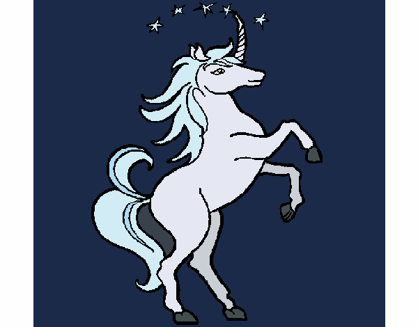 Coloring page Unicorn painted byAnnanymas
