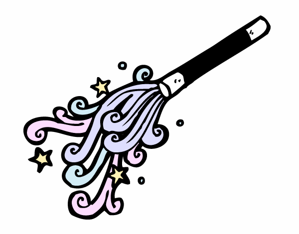 Coloring page Wizard Wand painted byAnnanymas
