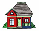 Coloring page Cottage of the village painted byBoylover2