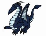 Coloring page Elegant dragon painted byEerie