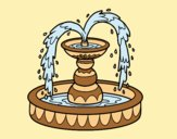 Coloring page Fountain painted byAnia
