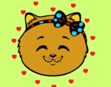 Coloring page Happy cat girl face painted byBoylover2