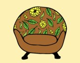 Coloring page Vintage armchair painted byAnia