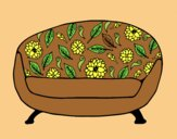 Coloring page Vintage Couch painted byAnia