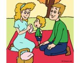 Coloring page The picnic painted byfawnamama1