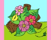 Coloring page Flowers I painted byAnia