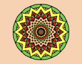 Coloring page Growing mandala painted byAnia