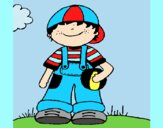 Coloring page Little boy 3 painted byAnia