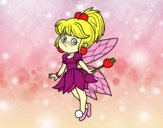 Coloring page Magical forest fairy forest painted byalexadra