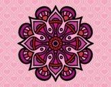 Coloring page Mandala arab world painted byPrincess