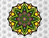 Coloring page Mandala simple symmetry  painted byPrincess