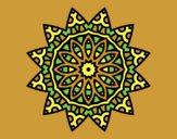 Coloring page Mandala star painted byAnia