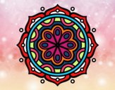 Coloring page Mandala to meditate painted byalexadra