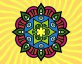 Coloring page Mandala vegetal life painted byPrincess