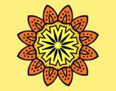Coloring page Mandala with petals painted byAnia
