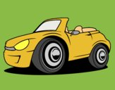 Coloring page New car painted byAnia