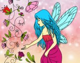 Coloring page Sylph painted byalexadra
