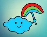 Cloud with rainbow