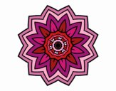 Coloring page Flower mandala of sunflower painted byPame