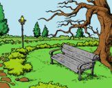 Coloring page Landscape park painted byAnia