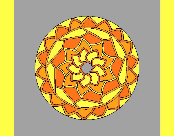 Coloring page Mandala 1 painted byAnia