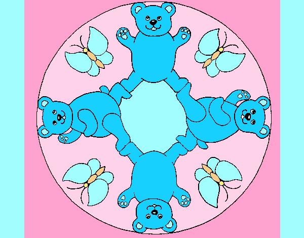 Coloring page Mandala 10 painted byAnia