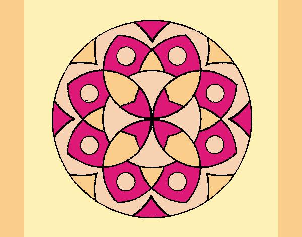 Coloring page Mandala 13 painted byAnia