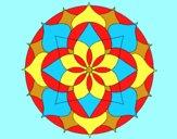 Coloring page Mandala 14 painted byAnia