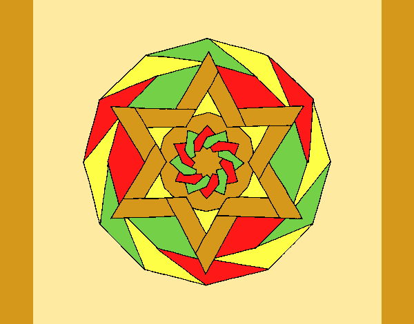 Coloring page Mandala 18 painted byAnia