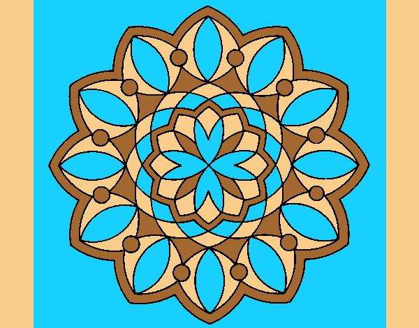 Coloring page Mandala 20 painted byAnia