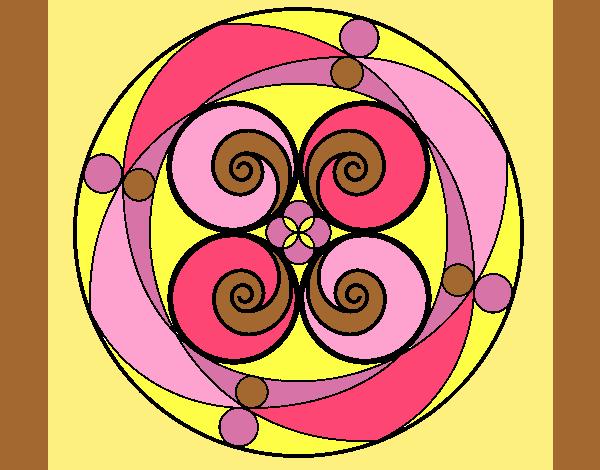 Coloring page Mandala 5 painted byAnia