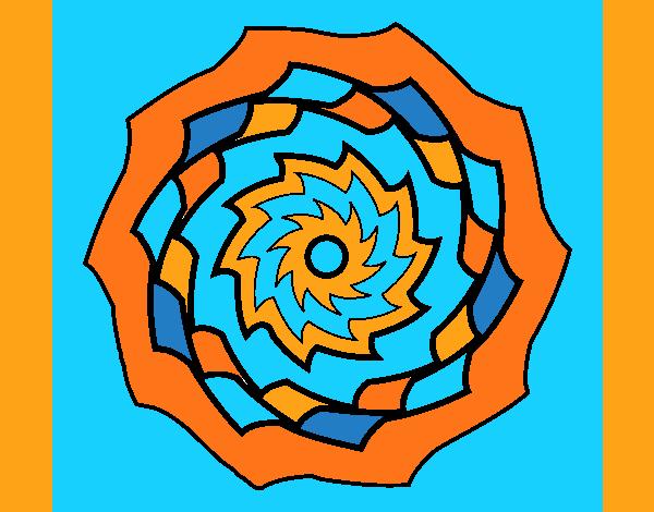 Coloring page Mandala 9 painted byAnia